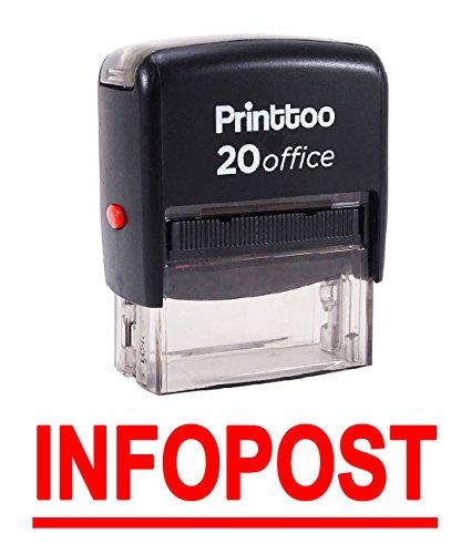 Printtoo Selbstfärber Stempel Infopost Büro stationär Bedrucktes Stempel-Rot