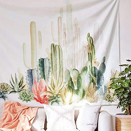 Jeteven Wandteppich Wandtuch Yoga Wandbehang Tapisserie Hippie Tapestry Picknickdecke Staubtuch Tischdecke Wand Dekor Foto Requisiten aus Polyesterfaser, Gotisch Böhmen Stil (Kaktus, 150 x 150 cm)