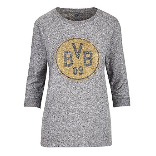 Borussia Dortmund BVB-Sweatshirt für Frauen, Anthrazit mit BVB-Logo, 50% Baumwolle & 50% Polyester, S-3XL L