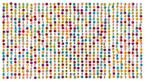 Baker Ross Pierres Autocollantes Couleur Arc en Ciel en Acrylique (Paquet de 900) matériels créatifs pour Enfants et Adultes