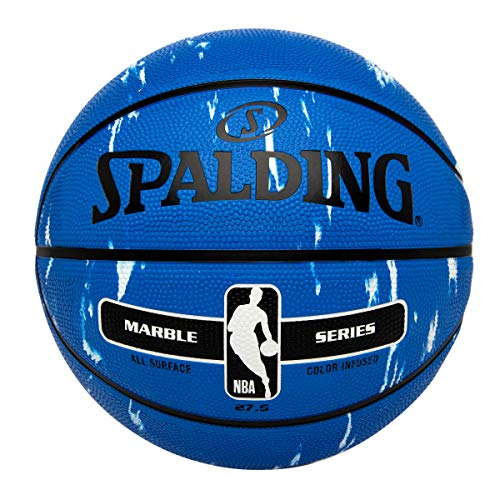 Spalding NBA Marble Series Blue Outdoor Basketball 27.5'