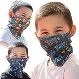 ALB Stoffe® ProtectMe - KIDS Loops Mix 1, permanent antimikrobiell, 100% Made in Germany, Ökotex® Standard 100, Mund-Nasen-Maske aus Trevira Bioactive®, waschbar, schadstofffrei, 3er Pack