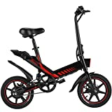 Electric Bicycle, Sailnovo 14'' Folding E-Bike for Adults and Teenagers 350W Motor Electric Bike with Removable 36V 10Ah Lithium-Ion Battery Throttle & Pedal Assist