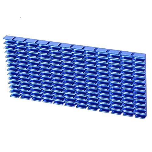 Lafey Disipador de Calor para CPU, Aleta de enfriamiento de Aluminio fácil de Montar Anticorrosión Antióxido para radiadores IC para Placas Base para Fuentes de alimentación para CPU