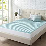 Zinus 2 Inch Swirl Gel Memory Foam Convoluted Mattress Topper / Cooling, Airflow Design / CertiPUR-US Certified, Twin