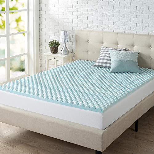 ZINUS 2 Inch Swirl Gel Cooling Memory Foam Mattress Topper / Cooling, Airflow Design / CertiPUR-US Certified, Queen