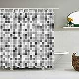 xkjymx Duschvorhänge große xcm 3D Bad Einzel Duschvorhang Zusammenfassung Gebrochene Streifen Wasserdicht Mehltau