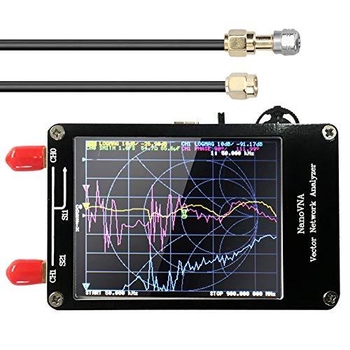 Analizador de Red Vectorial HF VHF UHF UV VNA Analizador de Antena VNA 50K-900M Antena VNA Medición de parámetro Voltaje Relación de Onda de la Onda con Pantalla LCD