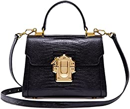 LA'FESTIN Cross body Small Leather Tote Bags for Women Black Purses with Long Shoulder Strap