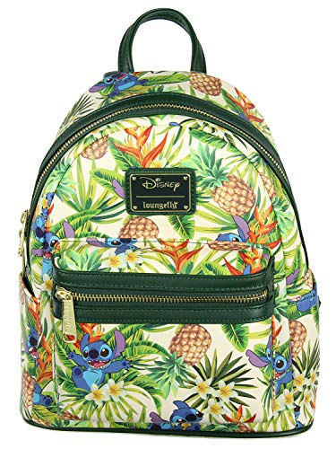 Loungefly Disney Lilo & Stitch Hawaiian Pineapple All Over Print Mini Backpack