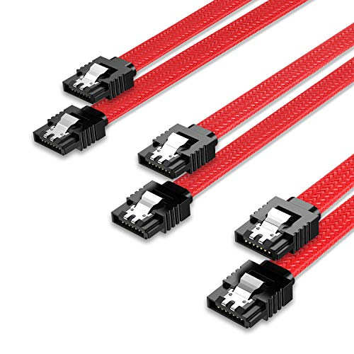 QIVYNSRY 3PACK SATA Cable III 3 Pack 6Gbps Straight HDD