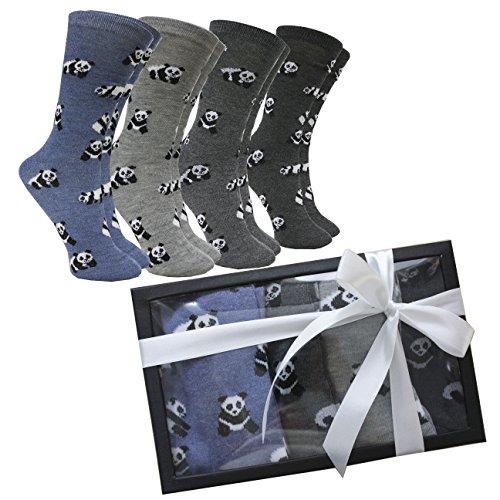 FERETI Calcetines Mujer Oso Panda Caja Regalo San Valentin Ideas Box Moda Chica Regalitos Día Madre Cumpleaños