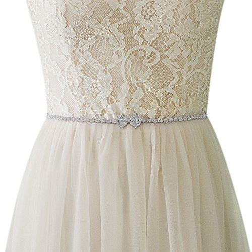 TOPQUEEN zilverlegering bruiloft riem glitterriem voor avondjurk riem voor bruidsjurk (S304)