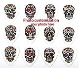 FOTN Soporte de púas de Guitarra de personalización de Fotos para púas de Guitarra eléctrica, Guitarras acústicas o Bajos 12 Piezas