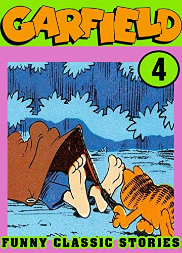 Funny Classic: Collection Book 4 - Cartoon Garfield Comic Strips - Fat Lazy Cat