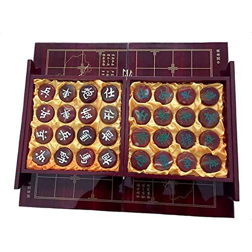 EXUVIATE Xiangqi Toy Chinesisches Schachspiel Chinesisches Schach Xiangqi Checker Game Set Mit Faltenden China Schachspiel Traditionelle Brettspiel