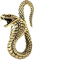 CHICNET Kobra Piercing a forma di serpente per orecchio, a spirale di dilatazione, in ottone dorato, a partire da 3 mm, 8 ...