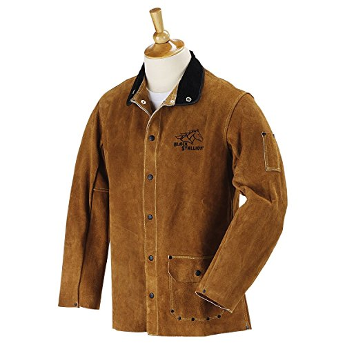 "BLACK STALLION Quality Side Split Cowhide Welding Coat - 30"" - XL"
