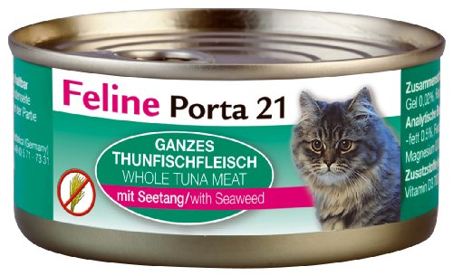 Feline Porta Katzenfutter Feline Porta 21 Thunfisch plus Seetang 156 g, 6er Pack (6 x 156 g)