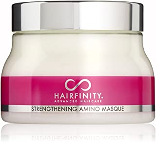 Hairfinity Strengthening Amino Masque - Hydrating Hair Mask and Deep Conditioner Treatment for Dry Damaged Hair and Scalp with Bioactive Hydrolyzed Collagen, Keratin, MSM & Horsetail 8 oz