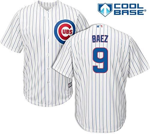 Javier Baez Chicago Cubs Kid's Cool Base White Replica Jersey Medium 5-6