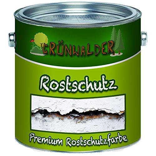 Grünwalder Rostschutz-Grundierung premium Rostschutzfarbe -pigmentierter Farb-Anstrich,leichte Verarbeitung &Wetterbeständig in Hell-Grau und Rot-Braun (1 L, Rotbraun)