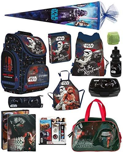 Familando Schulranzen-Set Star Wars Classic 18-TLG. Federmappe, Sporttasche, Schultüte 85cm und Regenschutz PL