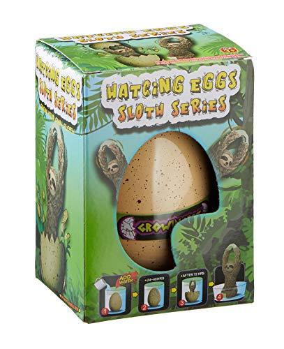 MIK Funshopping Magisches Ei mit schlüpfendem Tier (XXL Faultier im Ei)