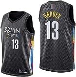 Movement Ropa Jerseys de Baloncesto para Hombres, NBA Brooklyn Nets # 13 James Harden, Comfort Classic Chalecos Transpirables Camiseta Uniformes Deportivos Tops, Negro(Size:/L,Color:G1)