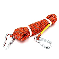 HIGH QUALITY: Made of Reinforced polyester rope, durable and long lasting. FEATURE: Rope using high-end machines, tightly woven, clear lines. CONTENT: Including a rope and 2 firmness hooks on the end, provide you safety and reliable environment,easy ...