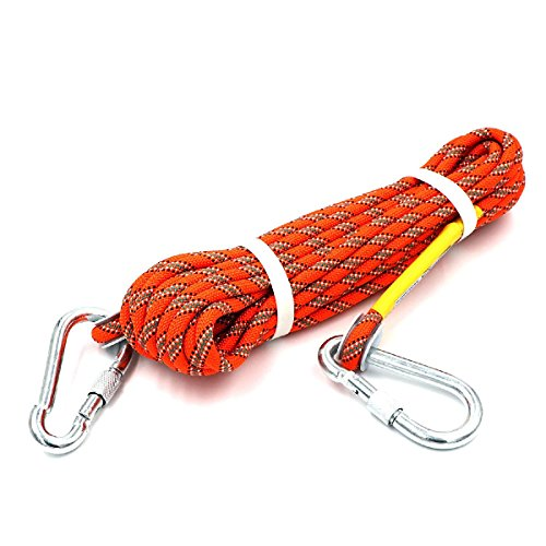 HandAcc Outdoor Climbing Rope 10M33ft Rock Climbing Rope Diameter 10mm Escape Rope Climbing Equipment Fire Rescue Parachute Rope
