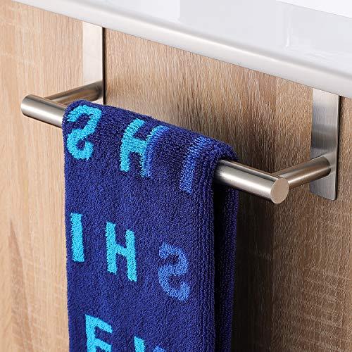 ZUNTO Handtuchhalter Ohne Bohren 23 cm Handtuchstange Bad Edelstahl Badetuchhalter für Badezimmer und Küche