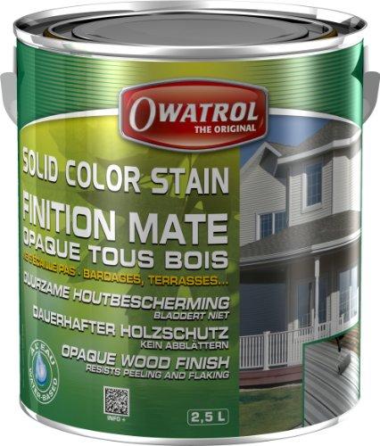 Owatrol Solid Color Versiegelung gegen Finish Deco Mate blickdicht alle Holz 2,5L weiß