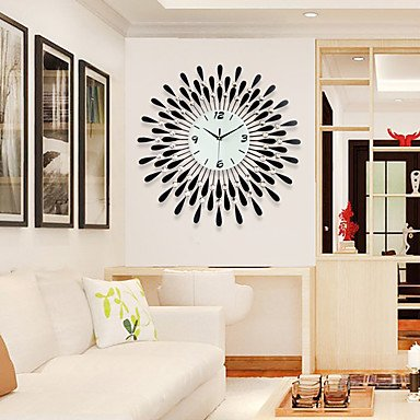 Quietness @ Maisons murales modernes en verre acrylique et métal 60 x 60 cm pour l'intérieur, noir et blanc