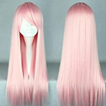New 70cm Anime Costume Long Straight Cosplay Home Improvement Wig Party Wig (Light Pink)Tools wig Anime Wig Tools