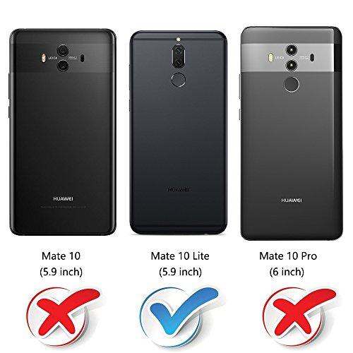 MOBESV Handyhülle für Huawei Mate 10 Lite Hülle Leder, Huawei Mate10 Lite Klapphülle Handytasche Case für Huawei Mate 10 Lite/Huawei Mate10 Lite Handy Hüllen, Modisch Rot - 2