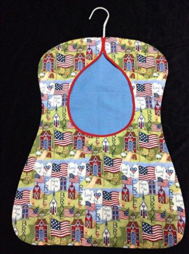 CLOTHESPIN BAG Large Designer Peg Bag, USA Flag, Americana, Patriotic, Land of the Free, Home of the Brave, laundry bag, Farm Clothespin Bag, Pin Bag, Hanging Closet Storage Bag, Laundry, Eco Friendly