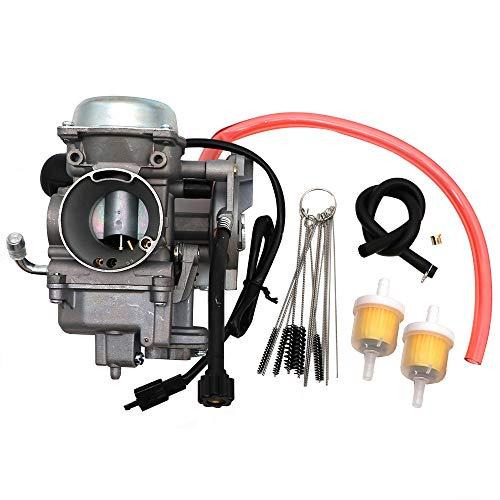 KIPA Carburetor For Arctic Cat ATV 350 366 400 Green Red Black 2008-2017, Replace OEM Part Number 0470-737 0470-843, With Carbon Dirt Jet Cleaner Tool Kit & Fuel Filters