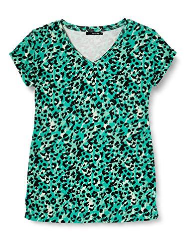 SUPERMOM tee SS Sea Leopard Camiseta premamá, Multicolor (Sea Green P162), 46 (Talla del Fabricante: XX-Large) para Mujer