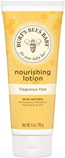 Burt's Bees Baby Nourishing Lotion, Fragrance Free Baby Lotion - 6 Ounce Tube