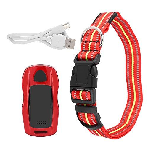 BTIHCEUOT Haustier-GPS-Verfolger, wasserdichtes Mini-Haustier-GPS-Kragen-Verfolger-Katzen-Hundefinder-Verzeichnis-¨¹berwachungssystem(rot)