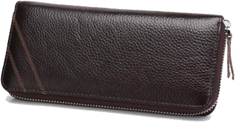 MAGAI Lange Brieftasche Männer Zipper Wallet Hohe Qualität Rindsleder (schwarz, blau, Kaffee) (Farbe   braun) B07LGLQ6SQ