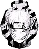 PANOZON Sudaderas Hombre Naruto Ninja Chaqueta con Capucha Camiseta Naruto Manga Larga Jersey para Fanes de Anime (L, Naruto 27-1)
