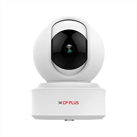 CP PLUS Intelligent Home PT Camera with Cloud Remote Viewing – 1080 Full HD , Wireless / WiFi, 360 Degree Viewing ,Motion Detection ,Two Way Communication ,Superior Night Vision , Pan- Tilt option,SD Card Slot.