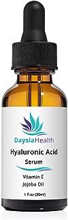 Daysia Health Hyaluronic Acid Serum for Face, with Vitamin E, Jojoba Oil, Aloe Vera, Anti-Aging, Skin Smoothing