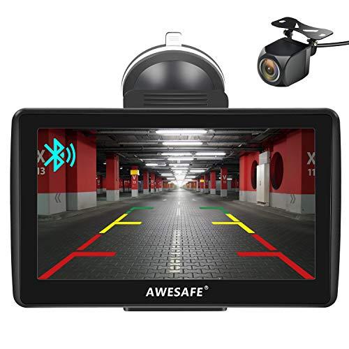 AWESAFE Navegador GPS para Coches con cámara Trasera de 7 Pulgadas con...