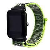 Saisiyiky Cinturino in Tela Wrist Watch Compatibile con Xiaomi Huami Amazfit Bip Orologio per...