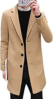 BOZEVON Winter Coats for Men - Autumn and Winter Men's Coat Slim Fashion Lapels Jacket