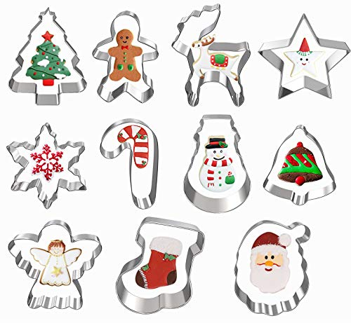 11 Pieces of Christmas Cookie Cutters