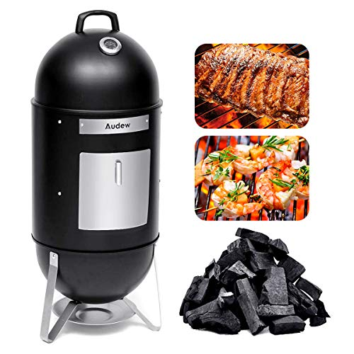Audew Charcoal Smoker Grill Combo 18-Inch Vertical Smoked Turkey Grill BBQ Heat...